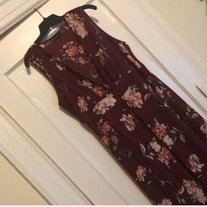 Sleeveless floral duster